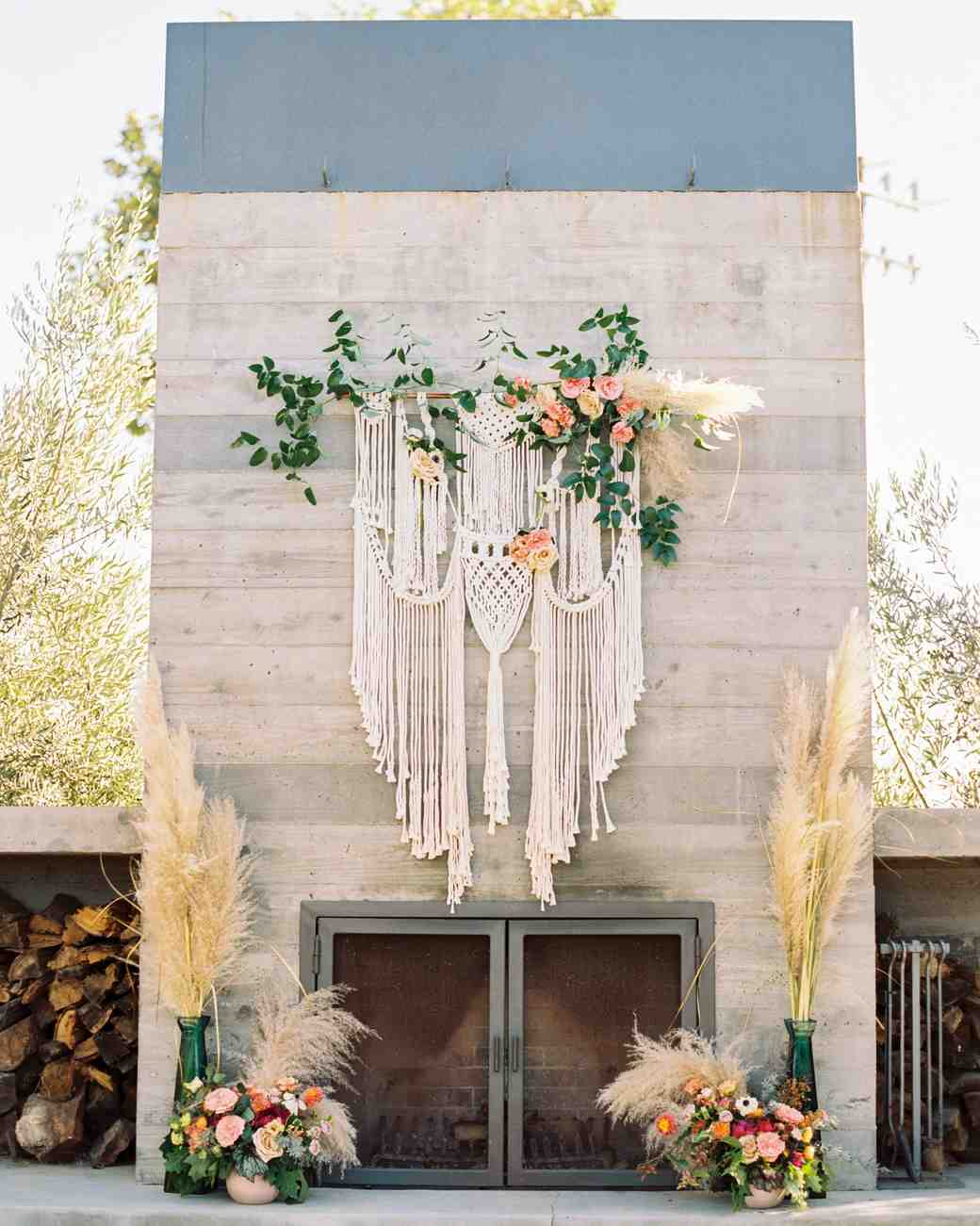 macrame wedding decor danielle poff altar