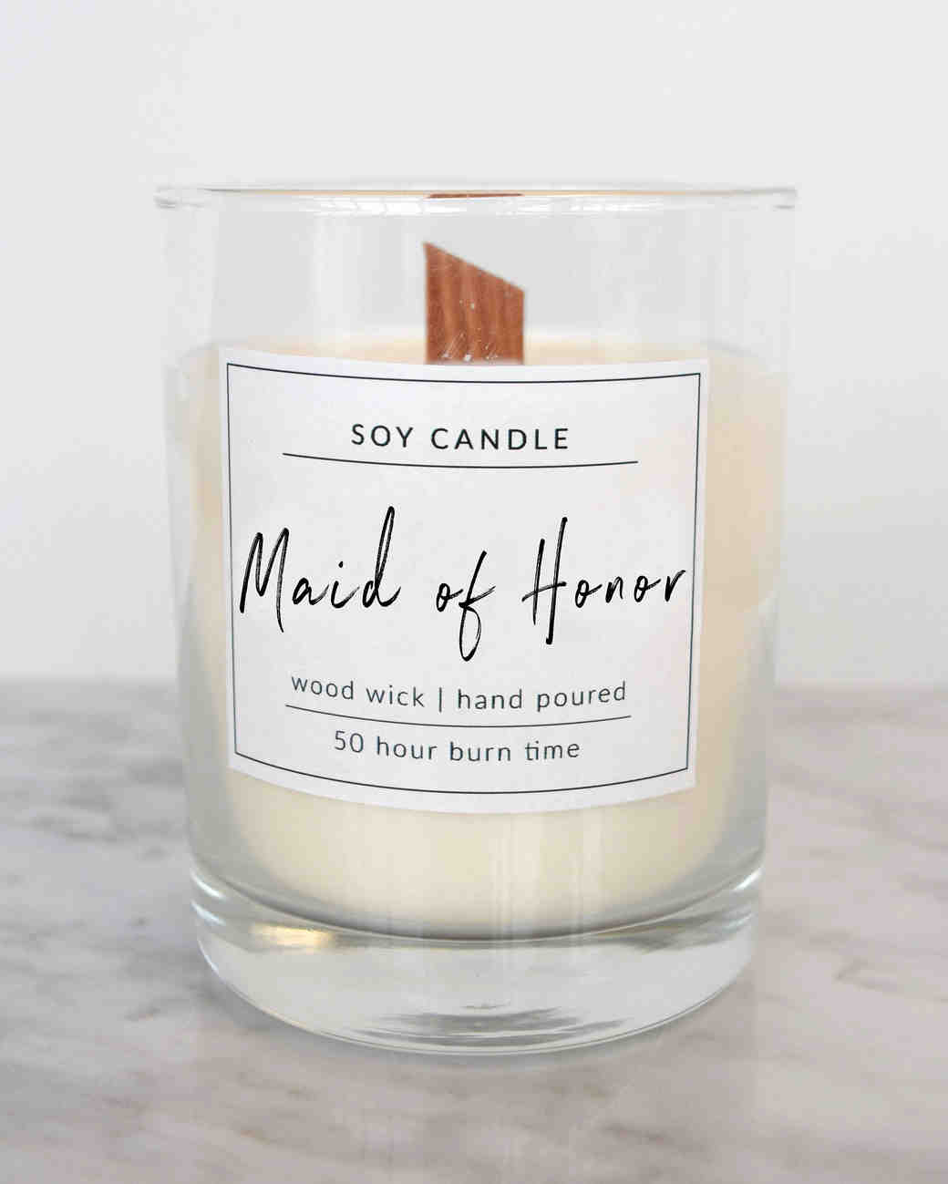 maid of honor proposal candle