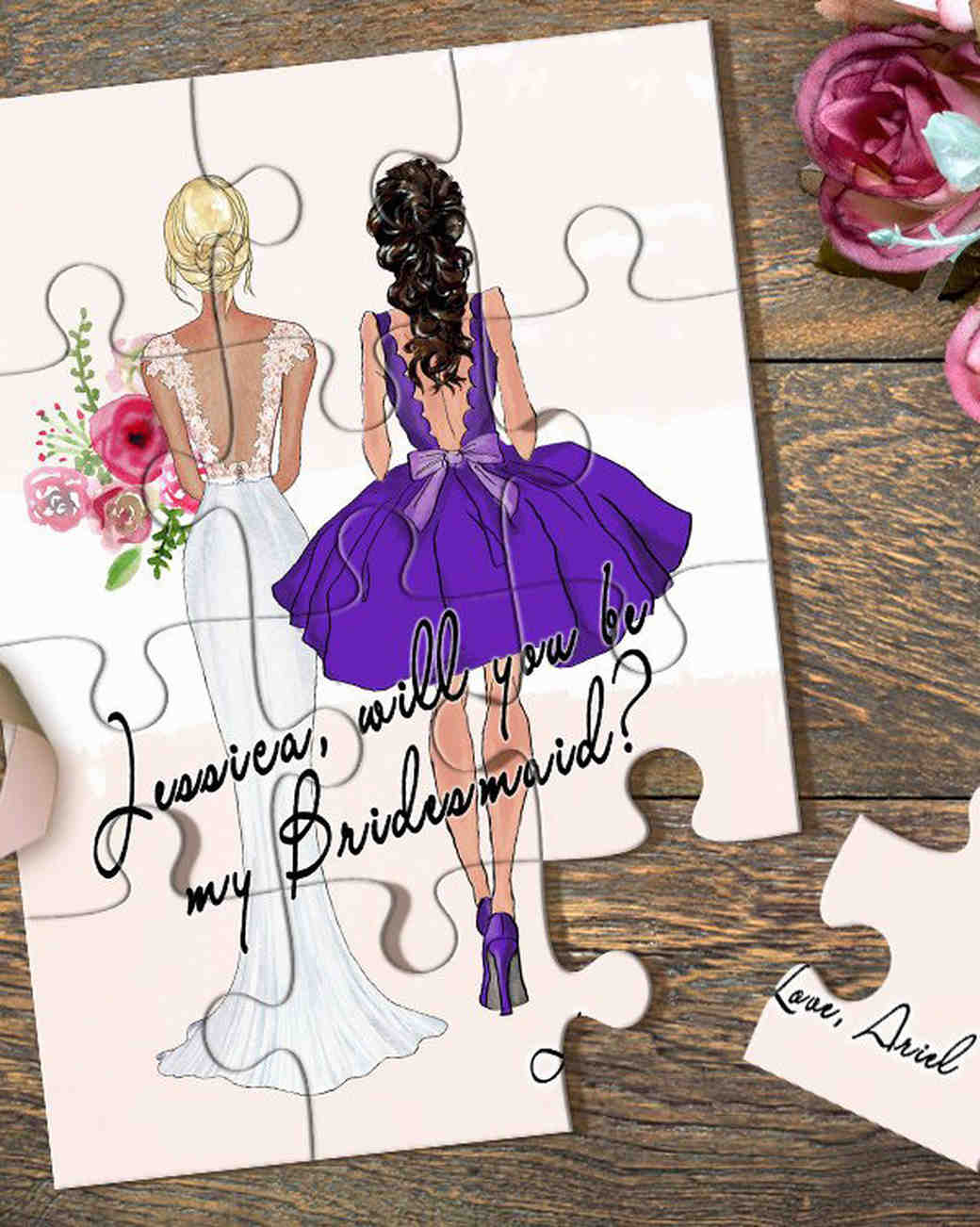 maid of honor proposal puzzle