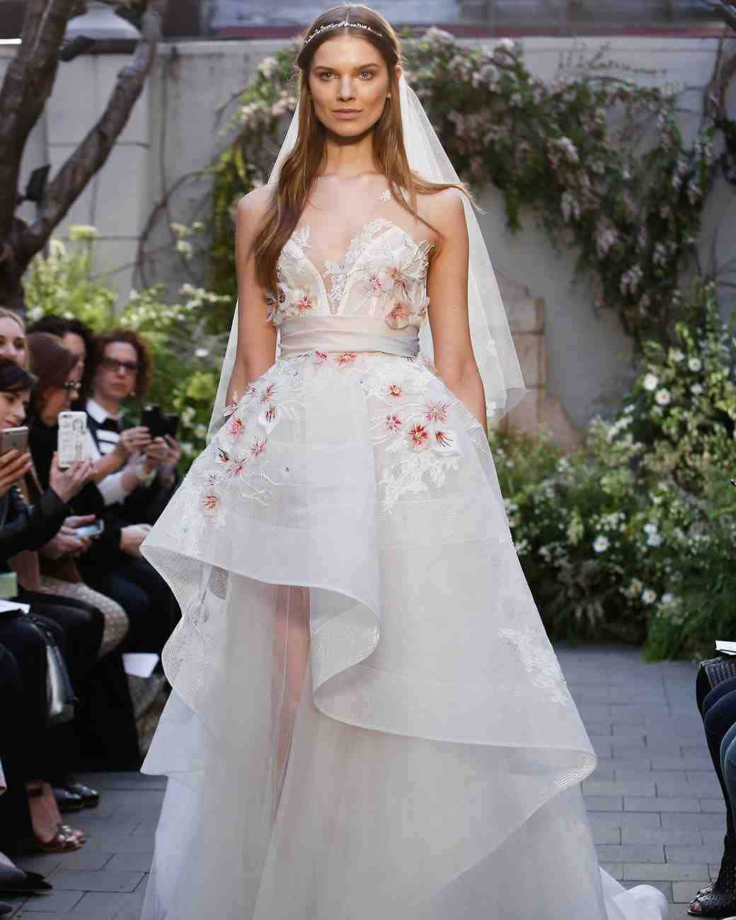 Monique Lhuillier Spring 2017 Wedding Dress Collection | Martha ...