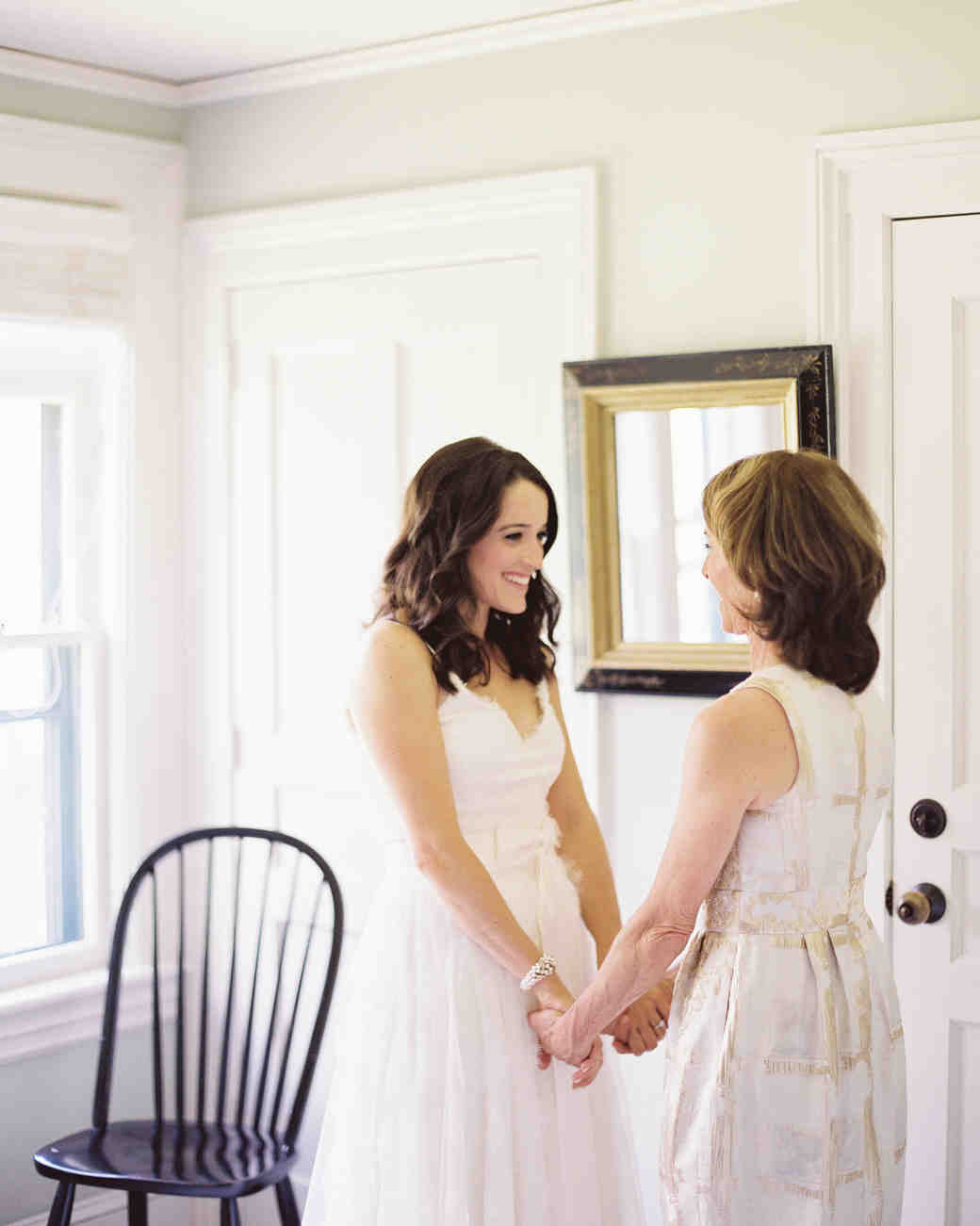 A Bride and Her Mom Before Her Wedding