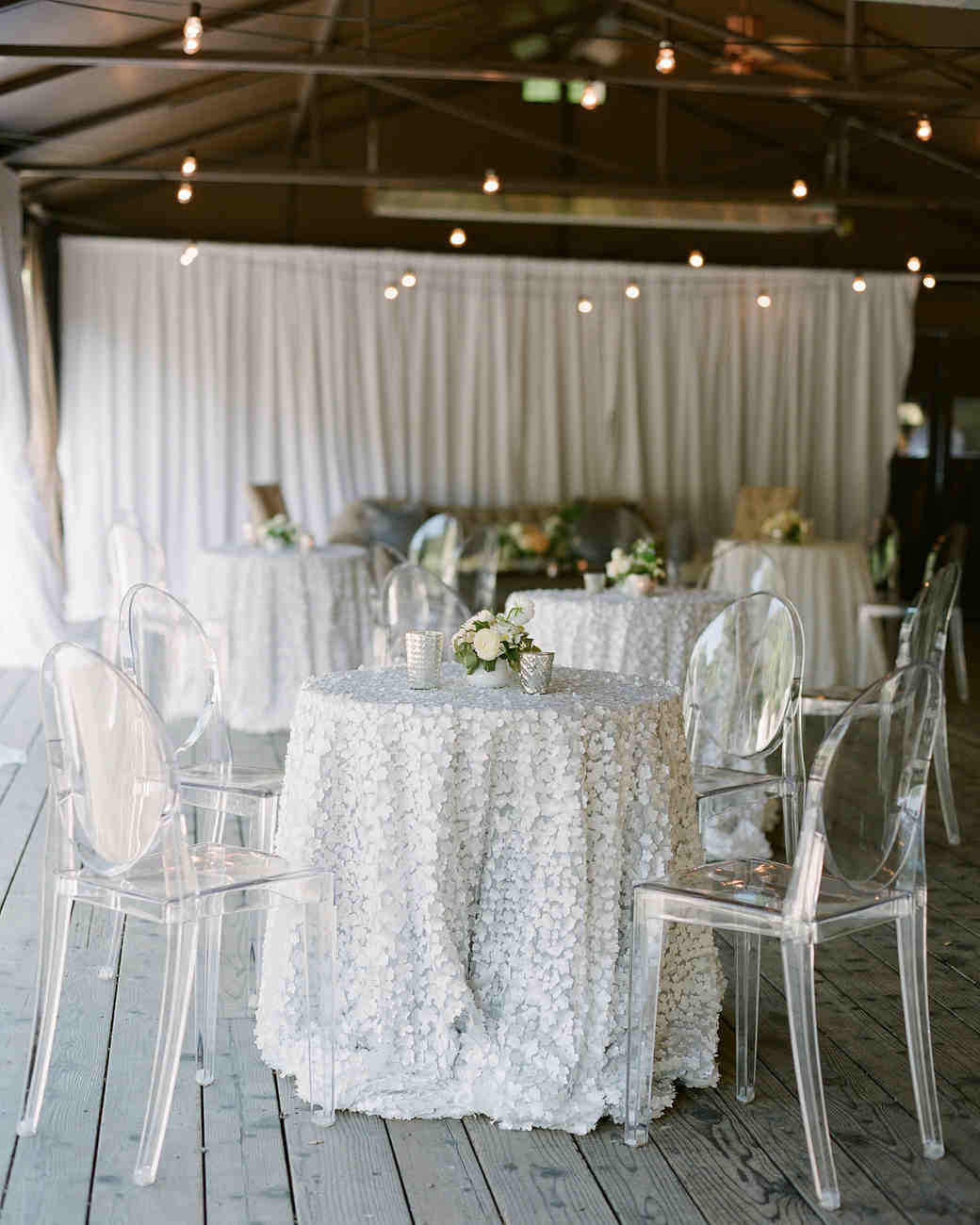 nadine dan wedding welcome party tables