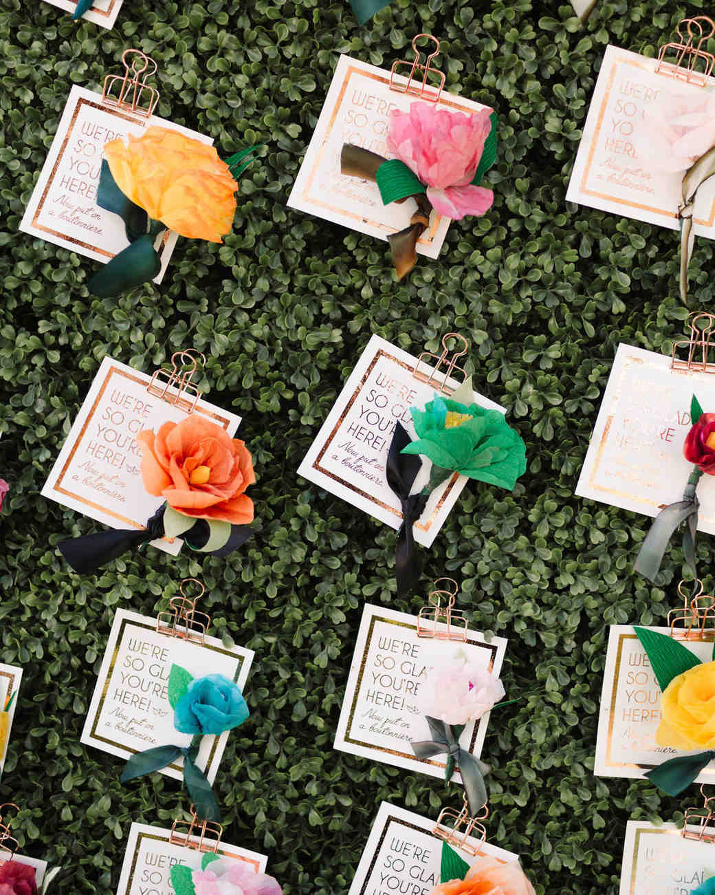 flower escort cards