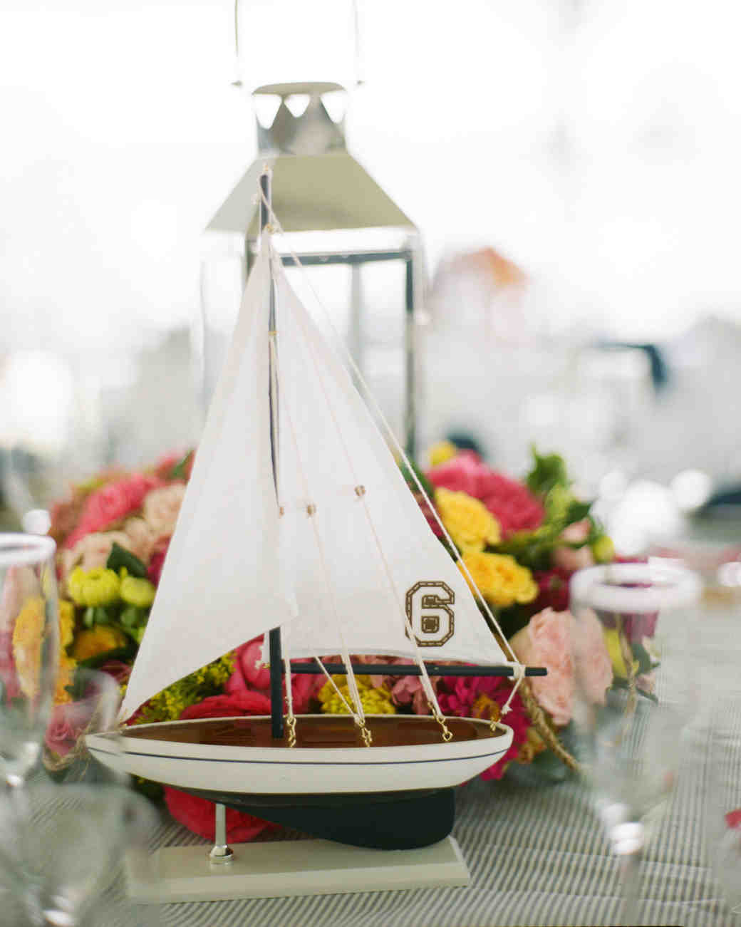 wedding decor sailboat table numbers
