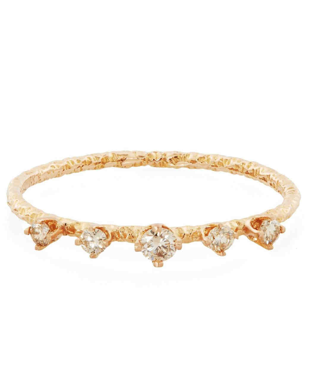 Satomi Kawakita Five Champagne Diamond Ring