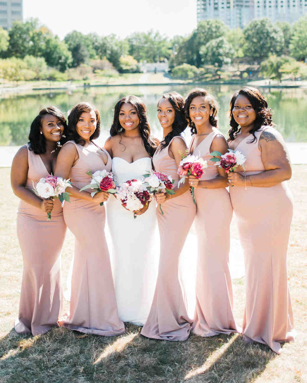 shanice & stephen wedding bridesmaids