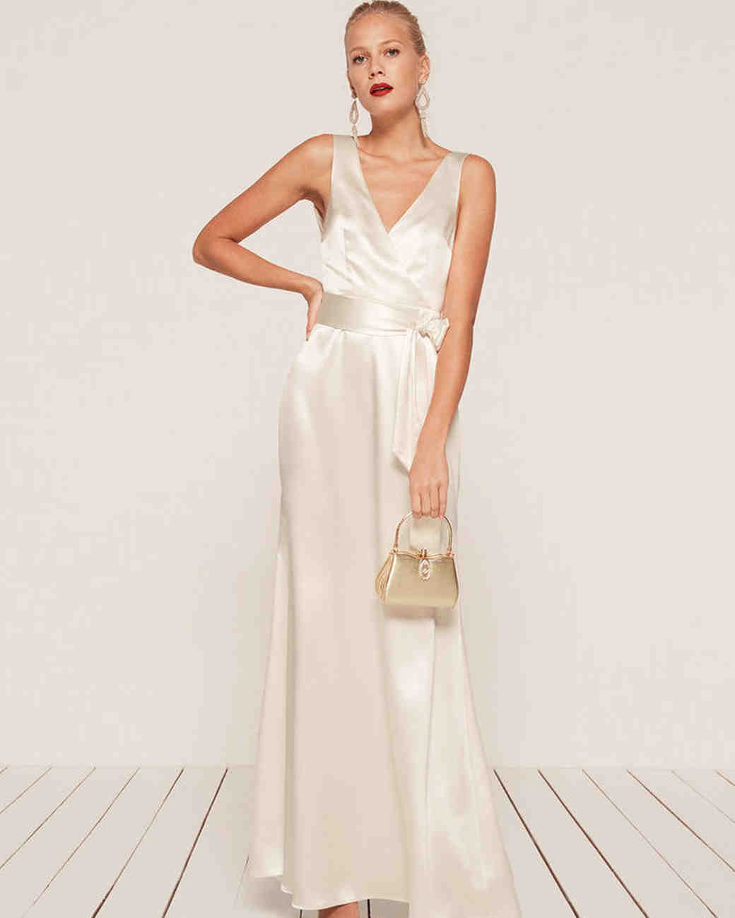 White Silk Dress
