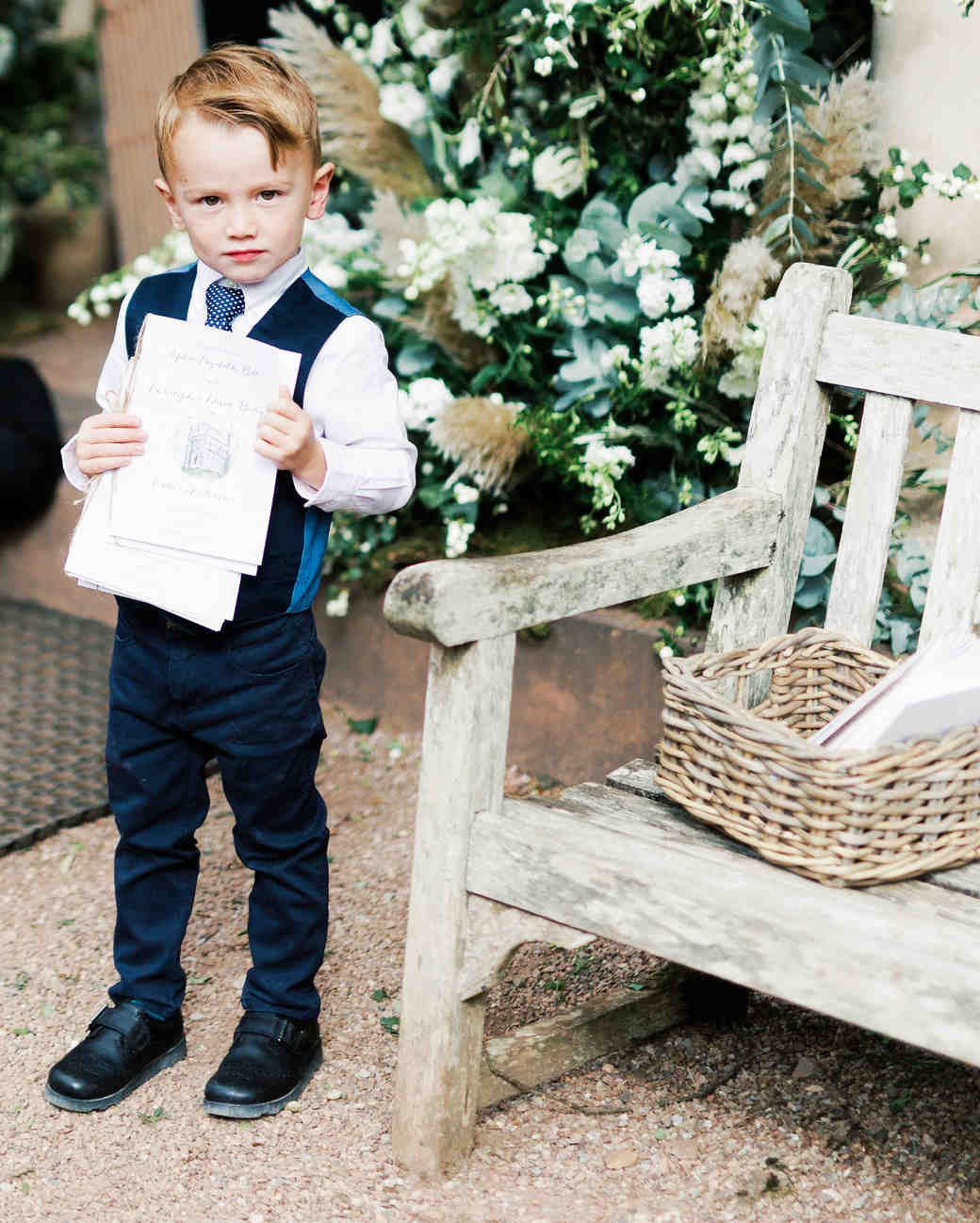 sophie christopher wedding programs and little boy