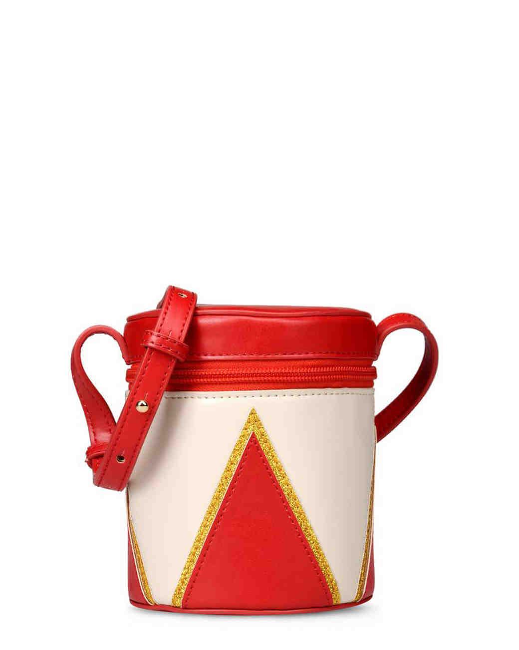 red drum flower girl purse