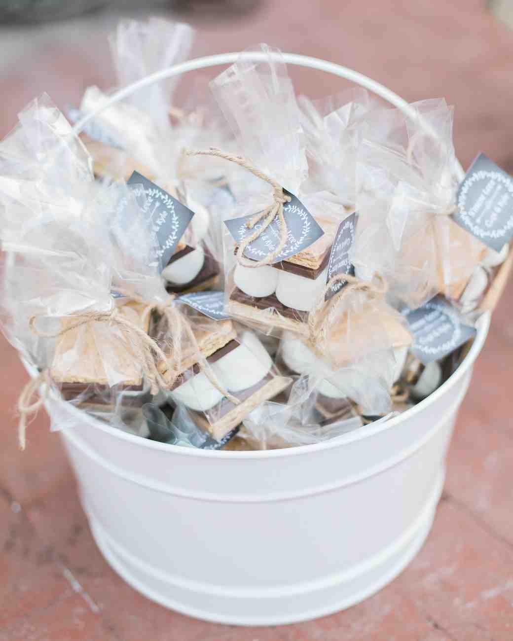 Individual smore wedding favors