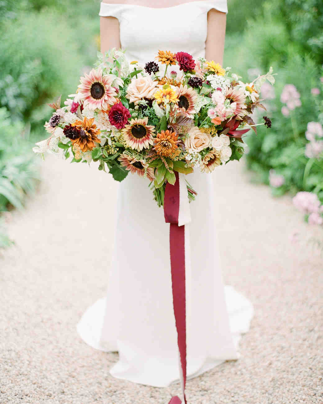 multicolored sunflower bouquet