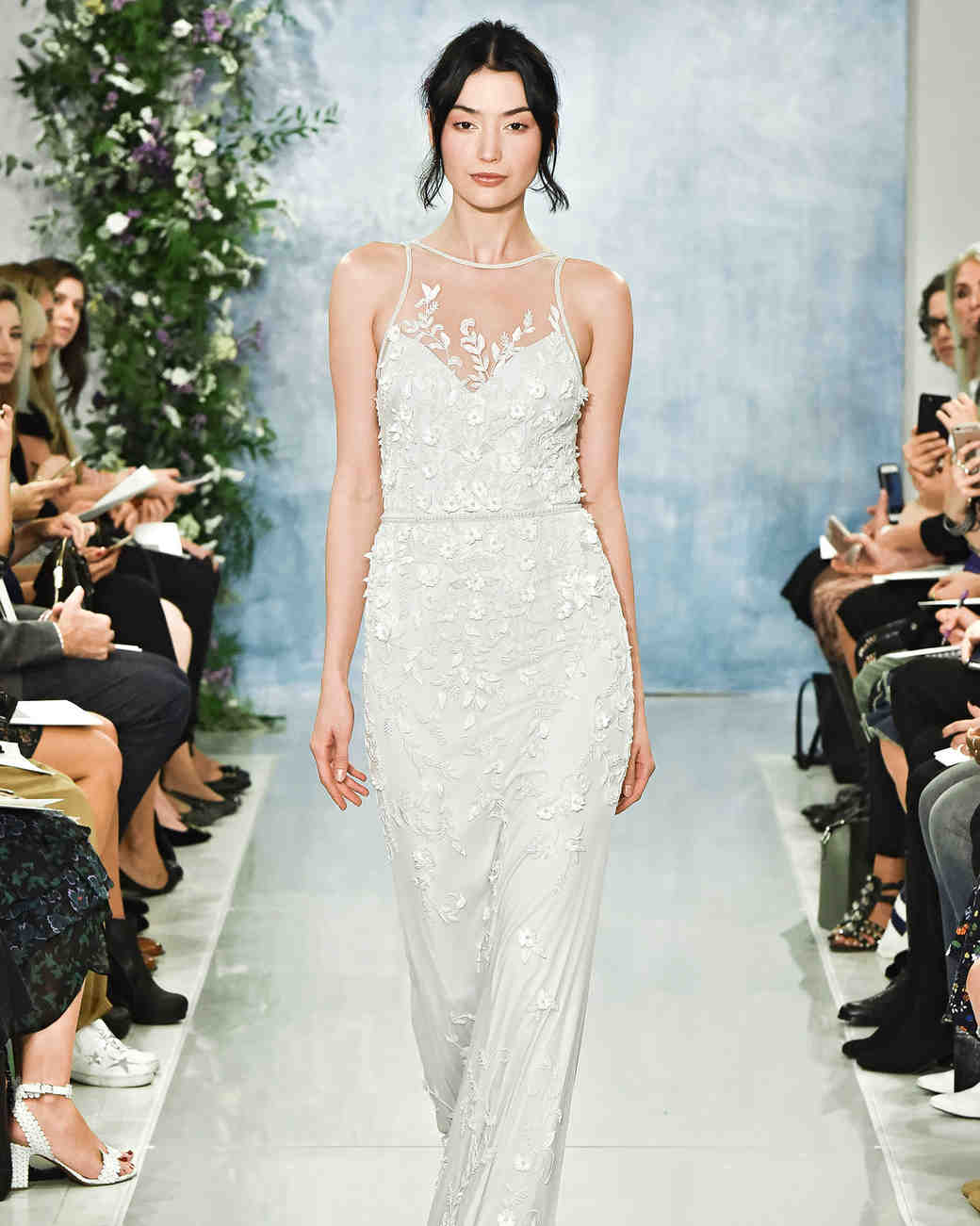 theia fall 2018 embroidered illusion neckline