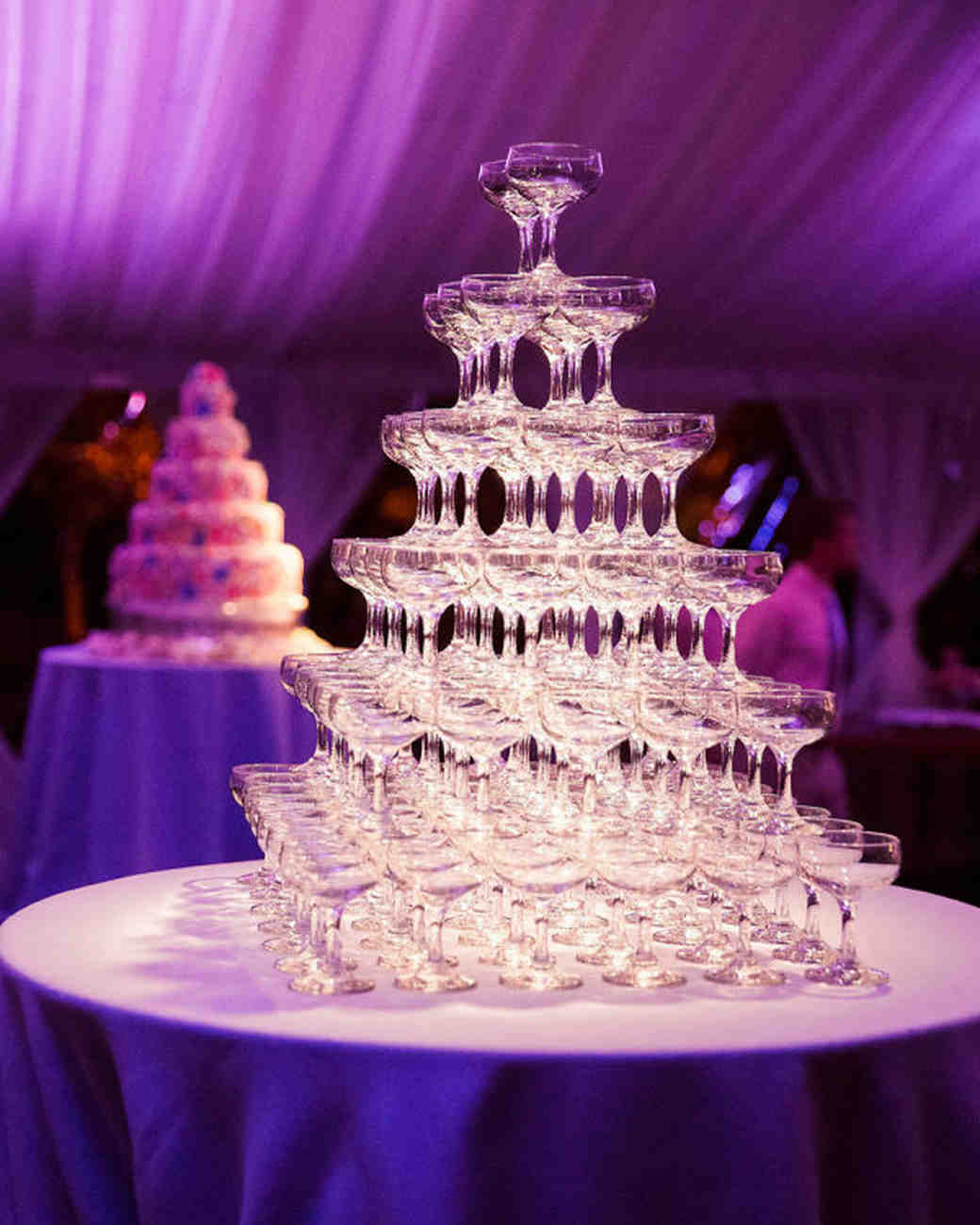 21 Wedding Champagne Towers Worth Popping Bottles For | Martha ...