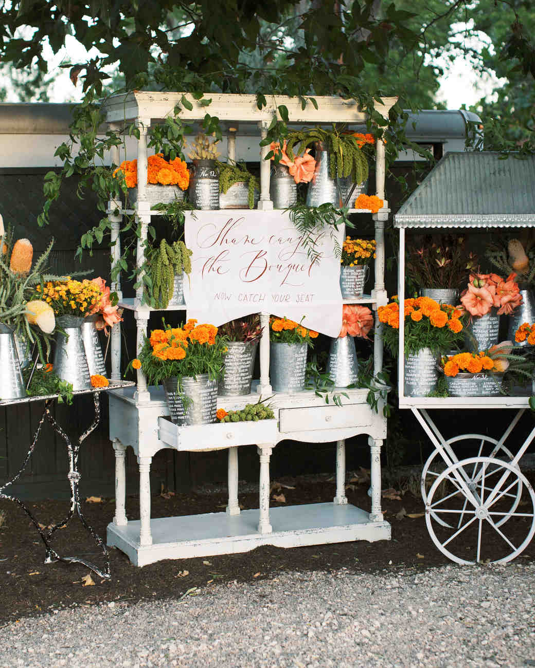 french market theme floral seating chart