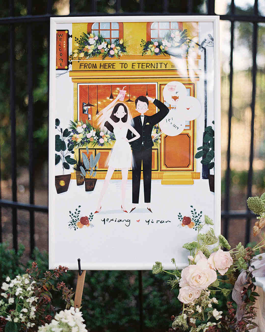 yiran yexiang wedding poster of bride and groom