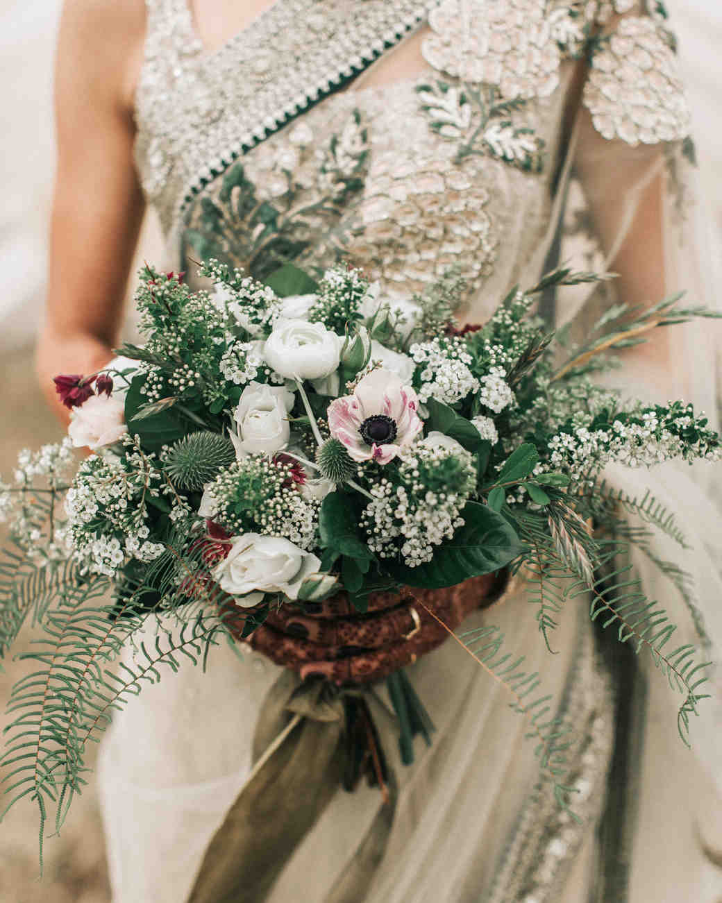 zai phil camping wedding bride bouquet