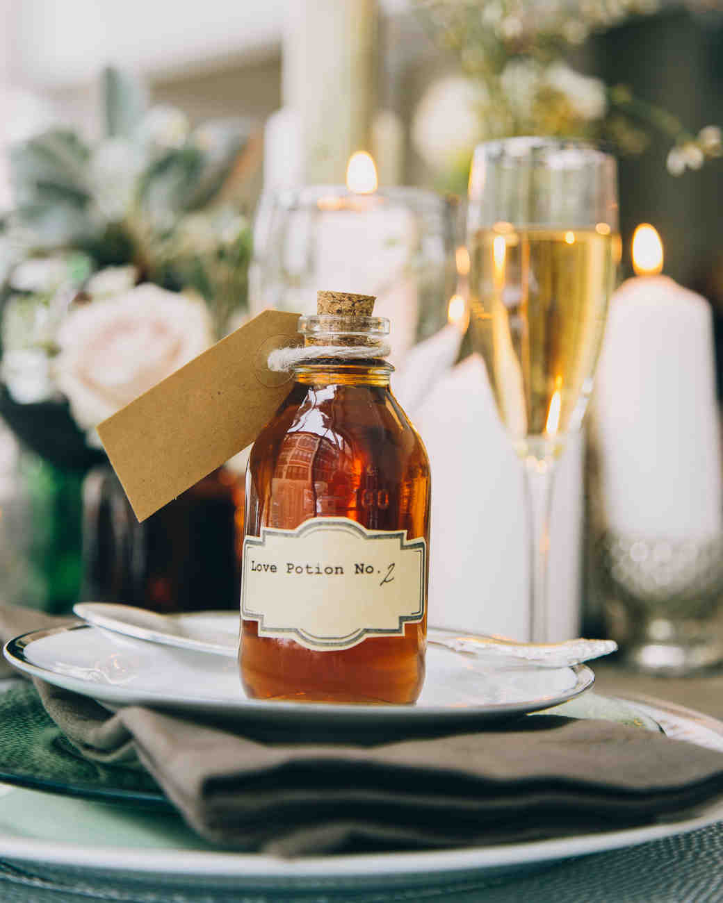 alcohol escort cards love potion bottle