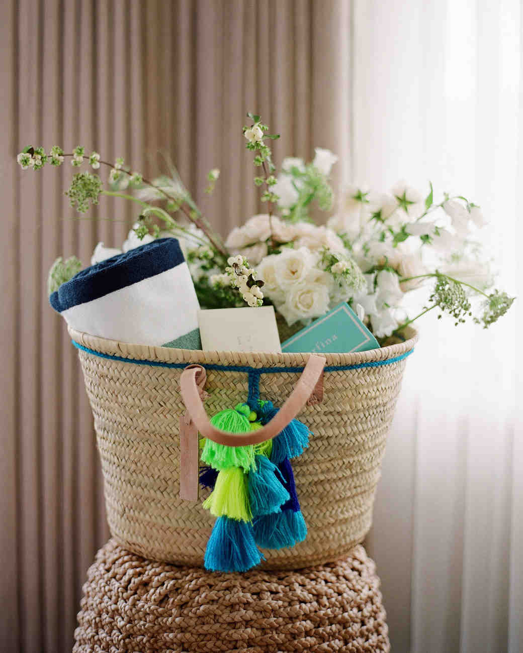 alex drew california wedding welcome basket