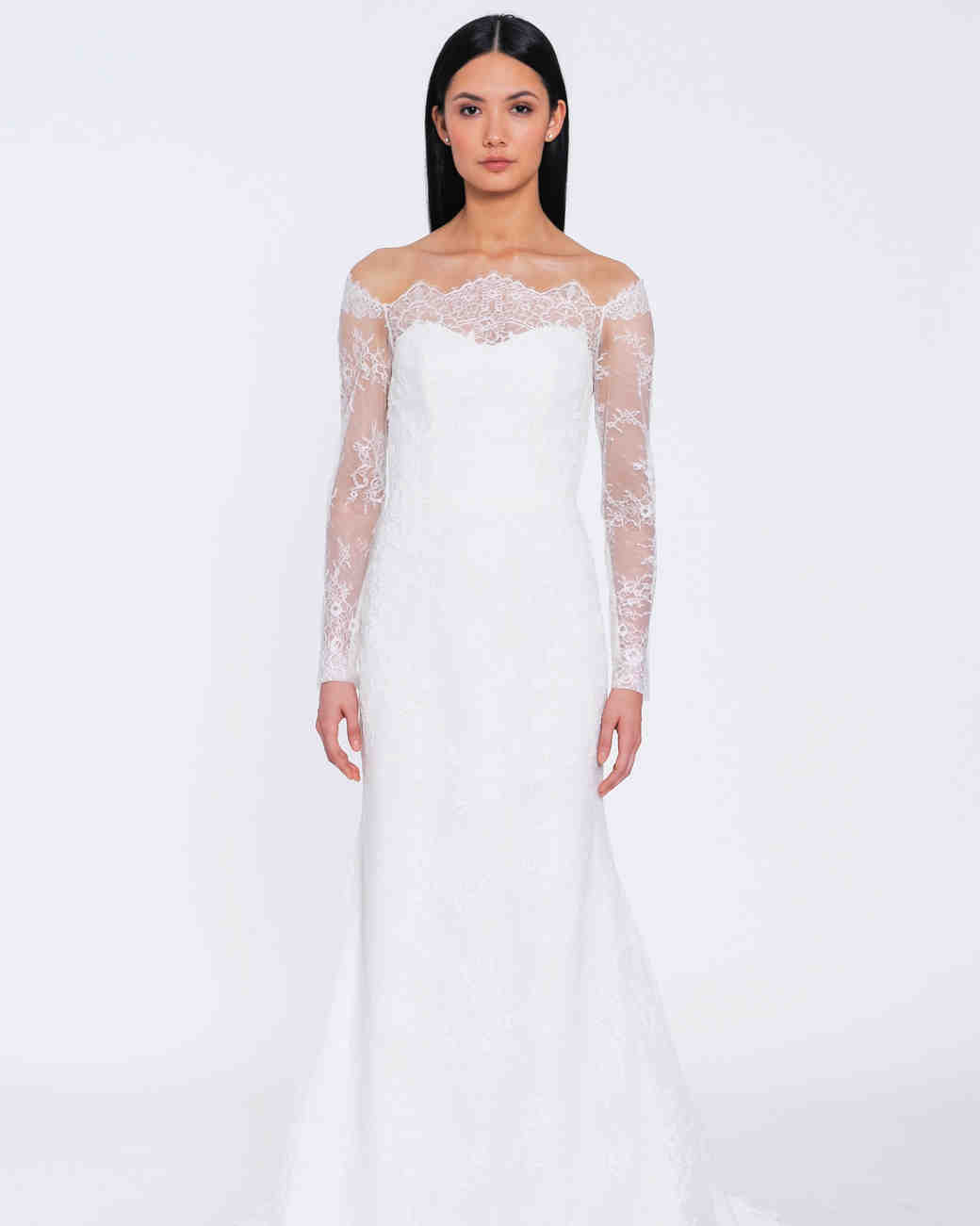Long-Sleeved Wedding Dresses We Love   Martha Stewart Weddings
