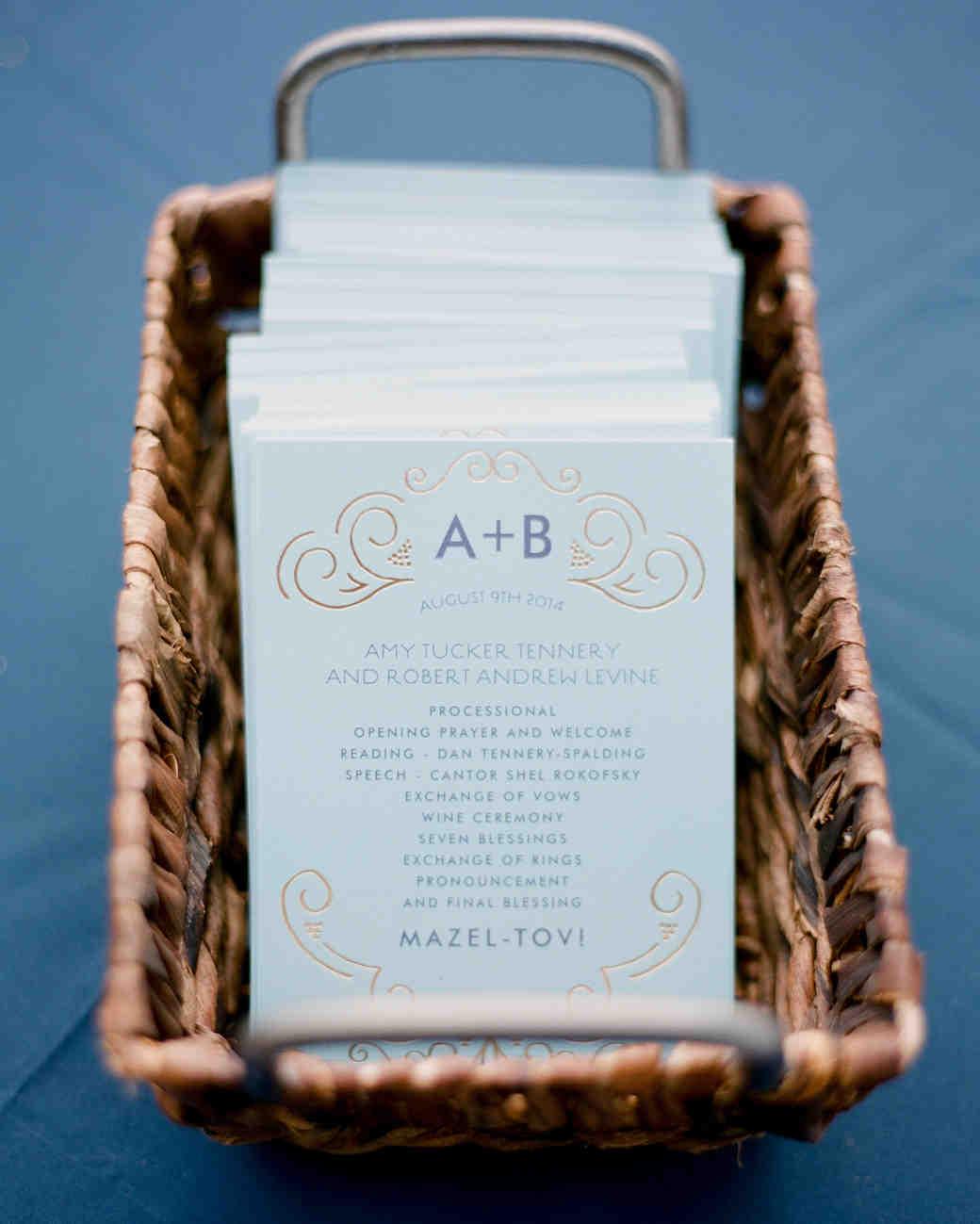 44 Perfect Wedding Ceremony Programs | Martha Stewart Weddings