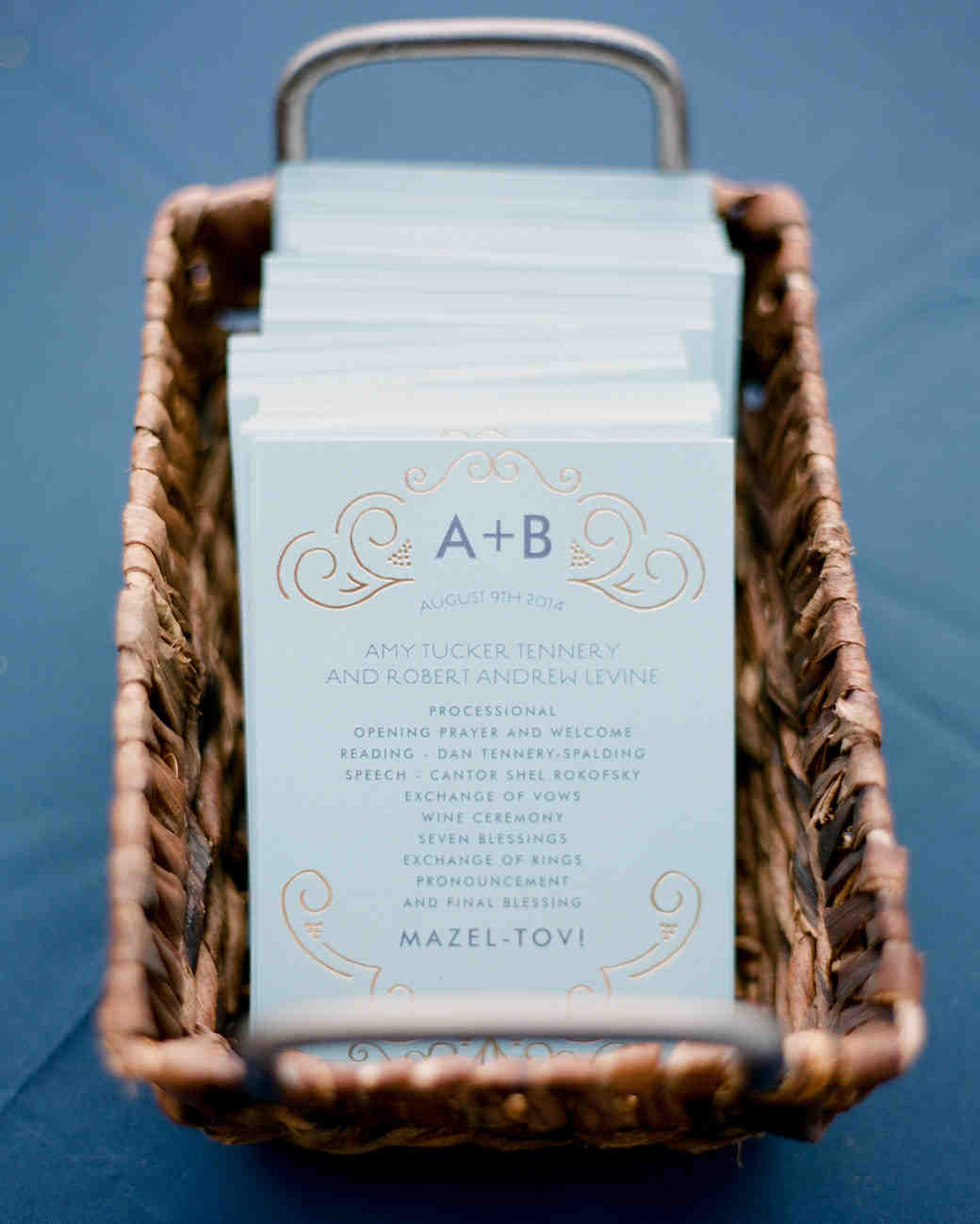 44 perfect wedding ceremony programs martha stewart weddings