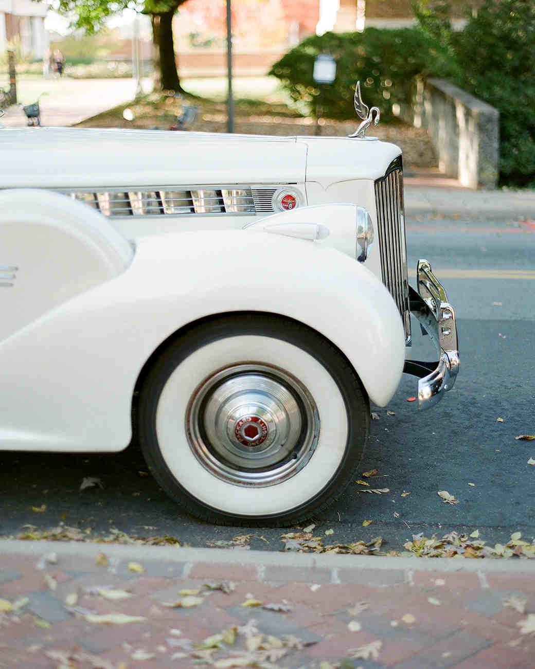 anne and staton wedding car