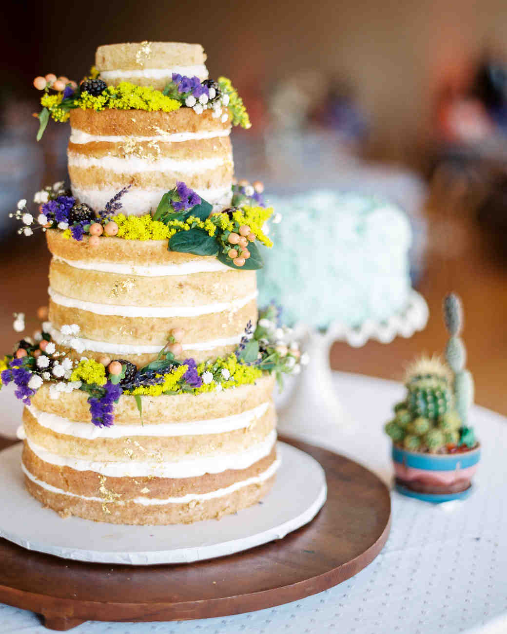 Naked Cake with Flower Crowns