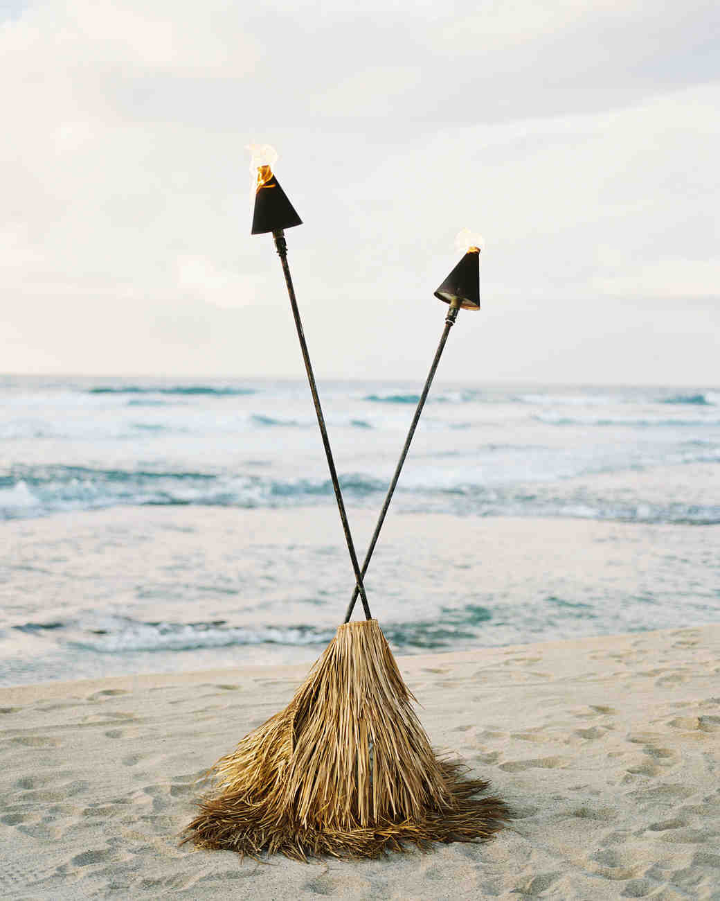 torches on beach