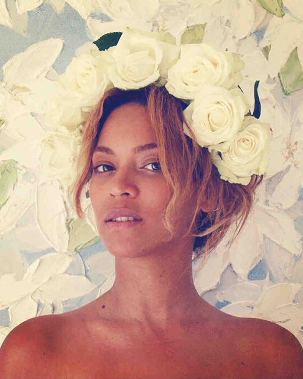 15 Beyoncé-Inspired Ways to Rock a Flower Crown for the Wedding ...
