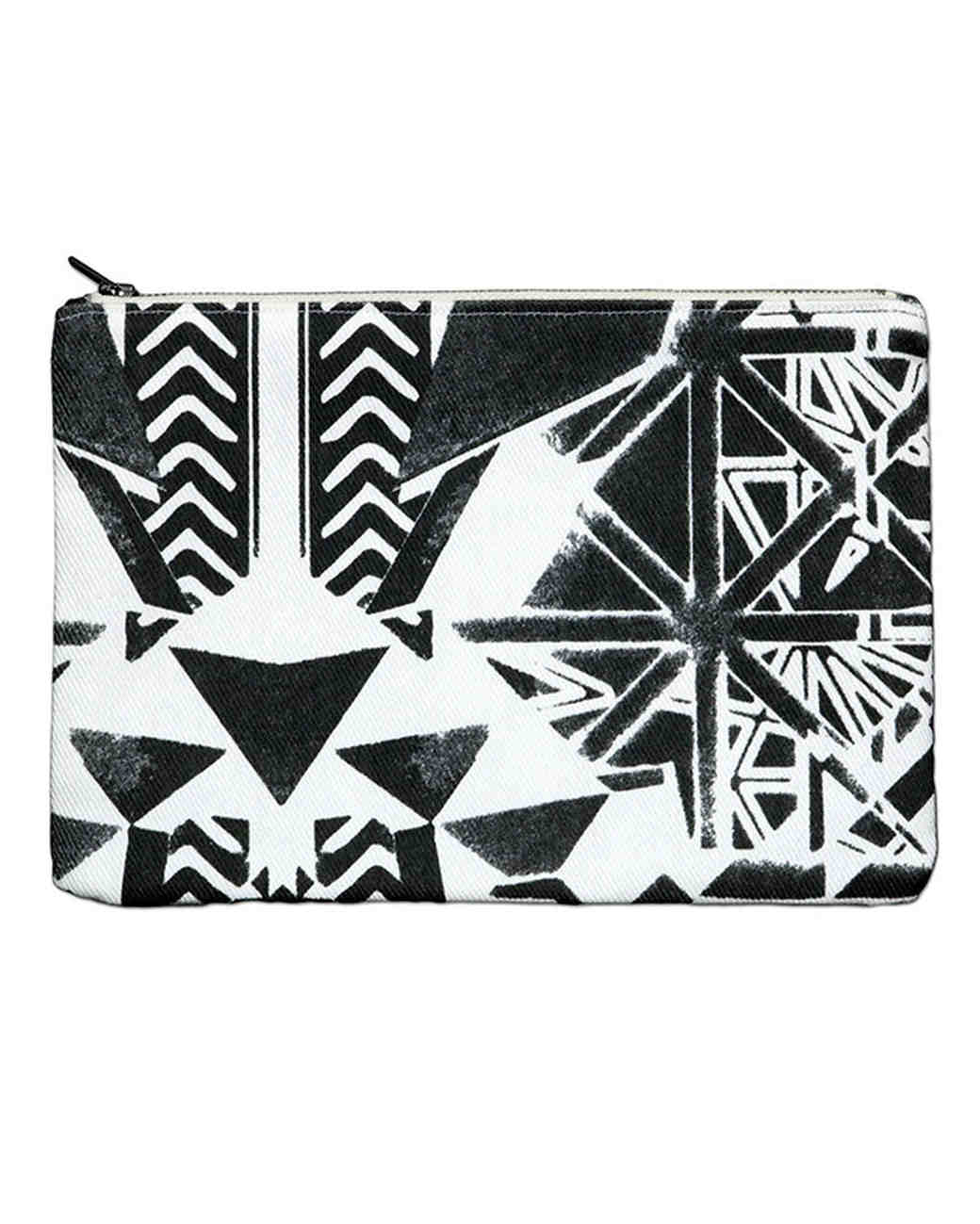 savannah hayes black and white pouch