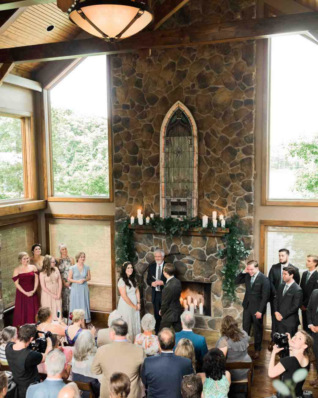 chrissy and jons indoor wedding ceremony
