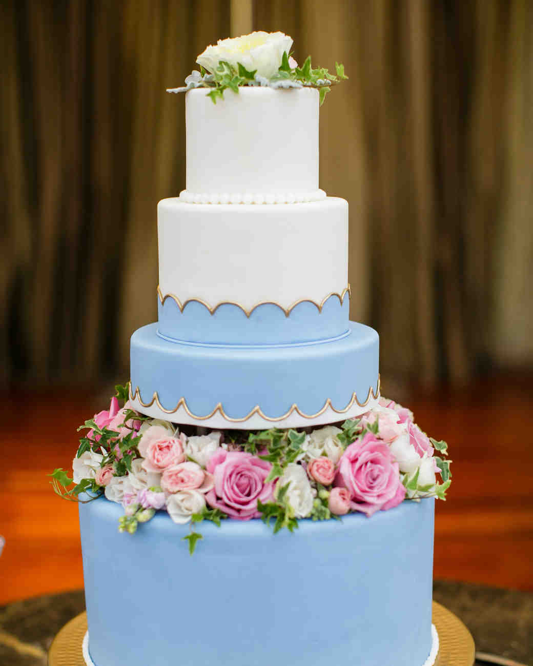 periwinkle wedding cake