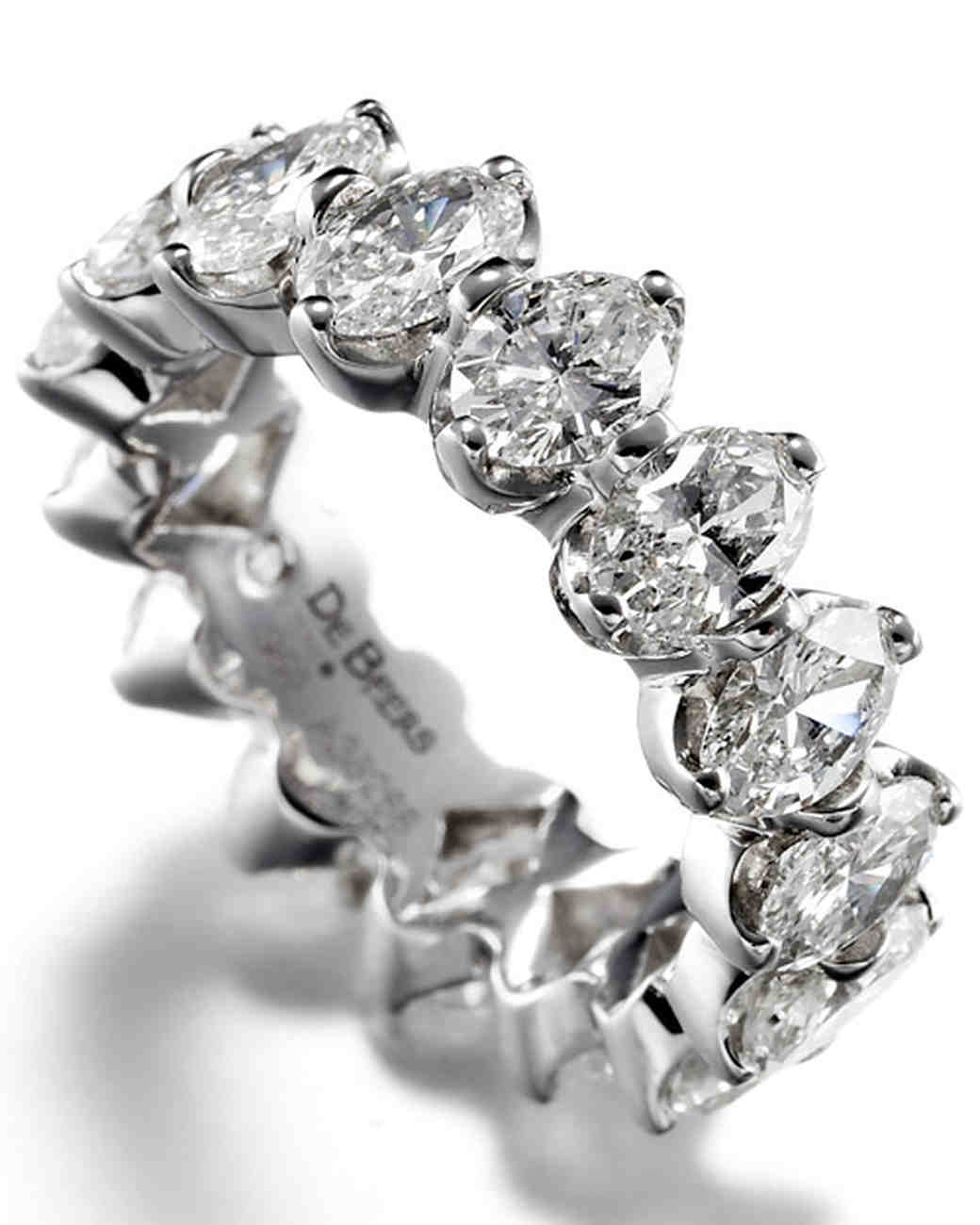 Wedding Band With Round Brilliant Diamonds