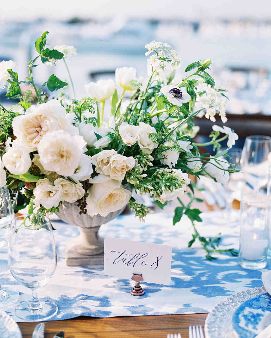 elizabeth scott wedding centerpieces