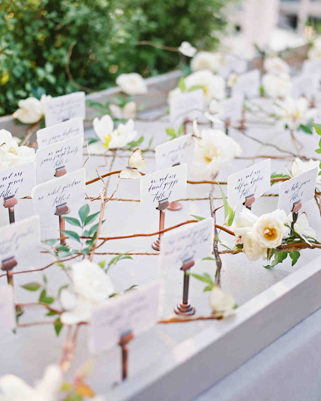 elizabeth scott wedding escort cards