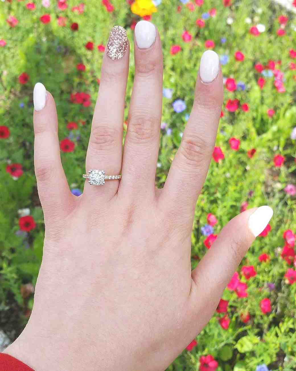 15 Incredible Engagement-Ring Selfies | Martha Stewart Weddings