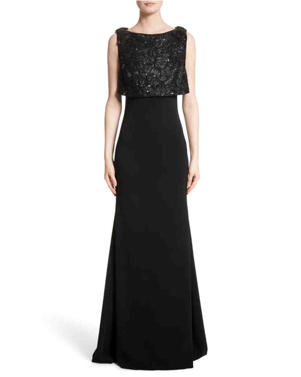 black mother of the bride dress