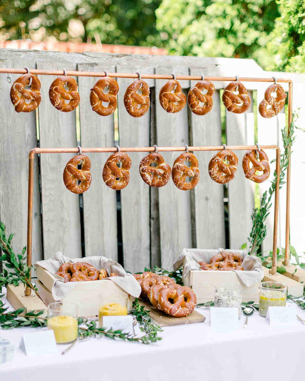 copper pretzel food wall