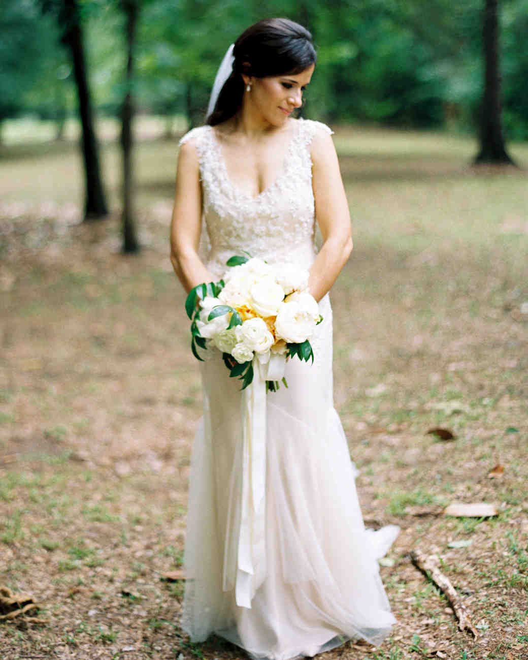The Best Hairstyles For Every Wedding Dress Neckline Martha Stewart Weddings: Wedding Dress With Long Hair At Reisefeber.org
