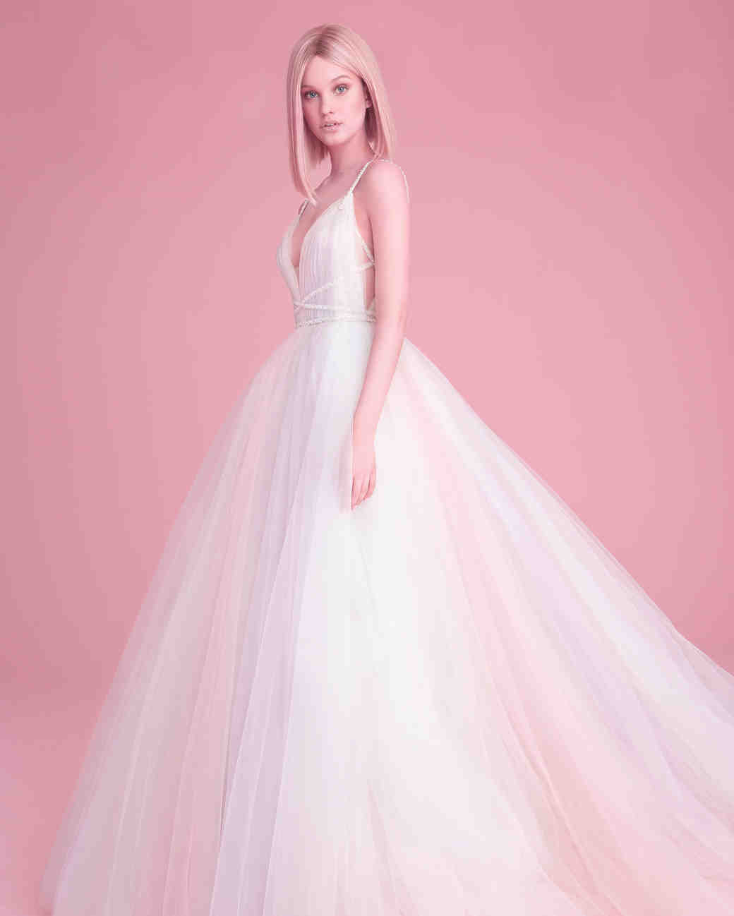 hayley paige wedding dress spring 2019 ball gown pastel skirt