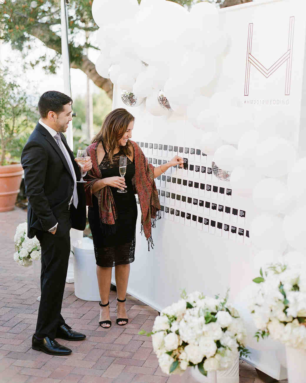 henery michael wedding seating chart and guests