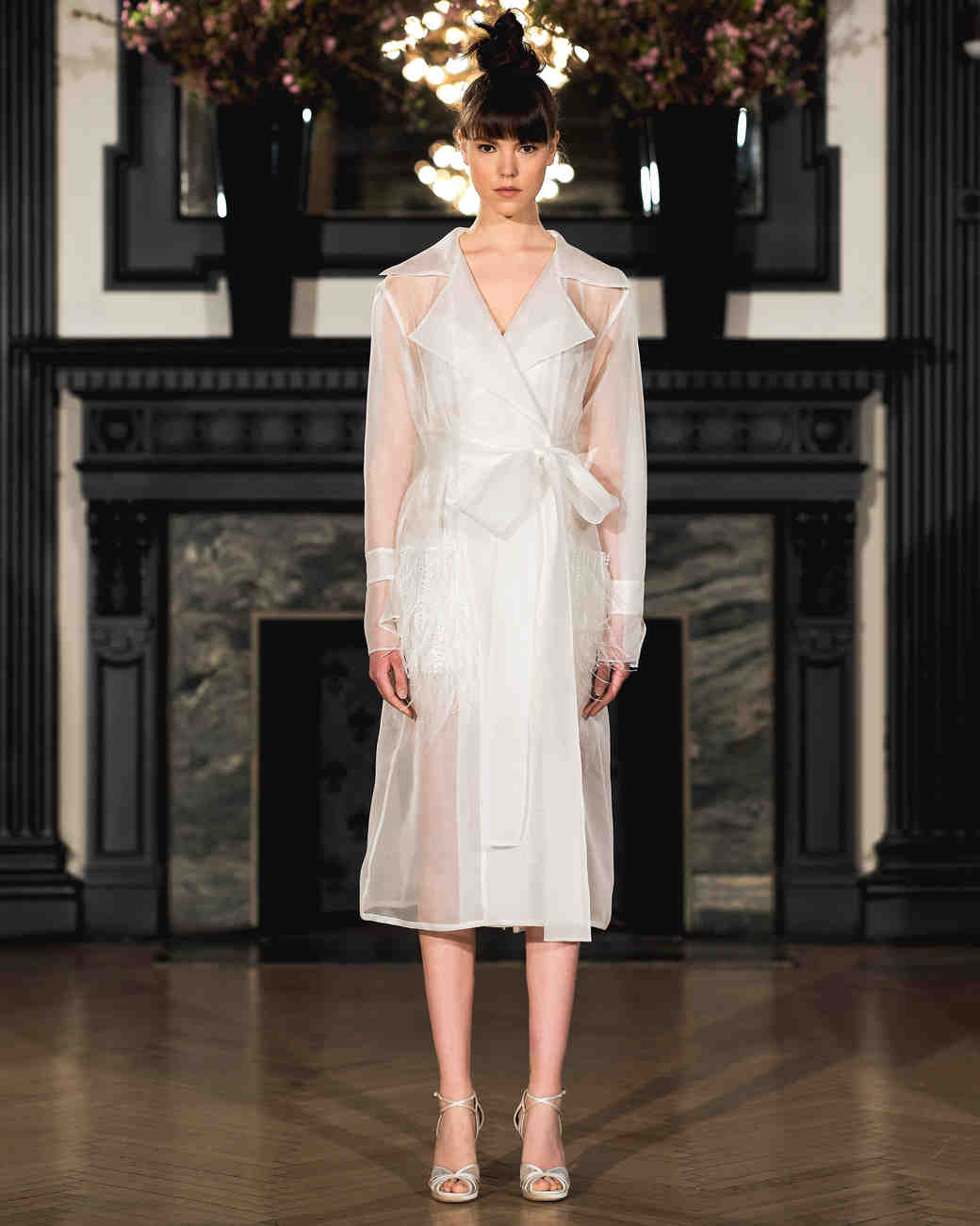 ines di santo wedding dress spring 2019 front tie knee length