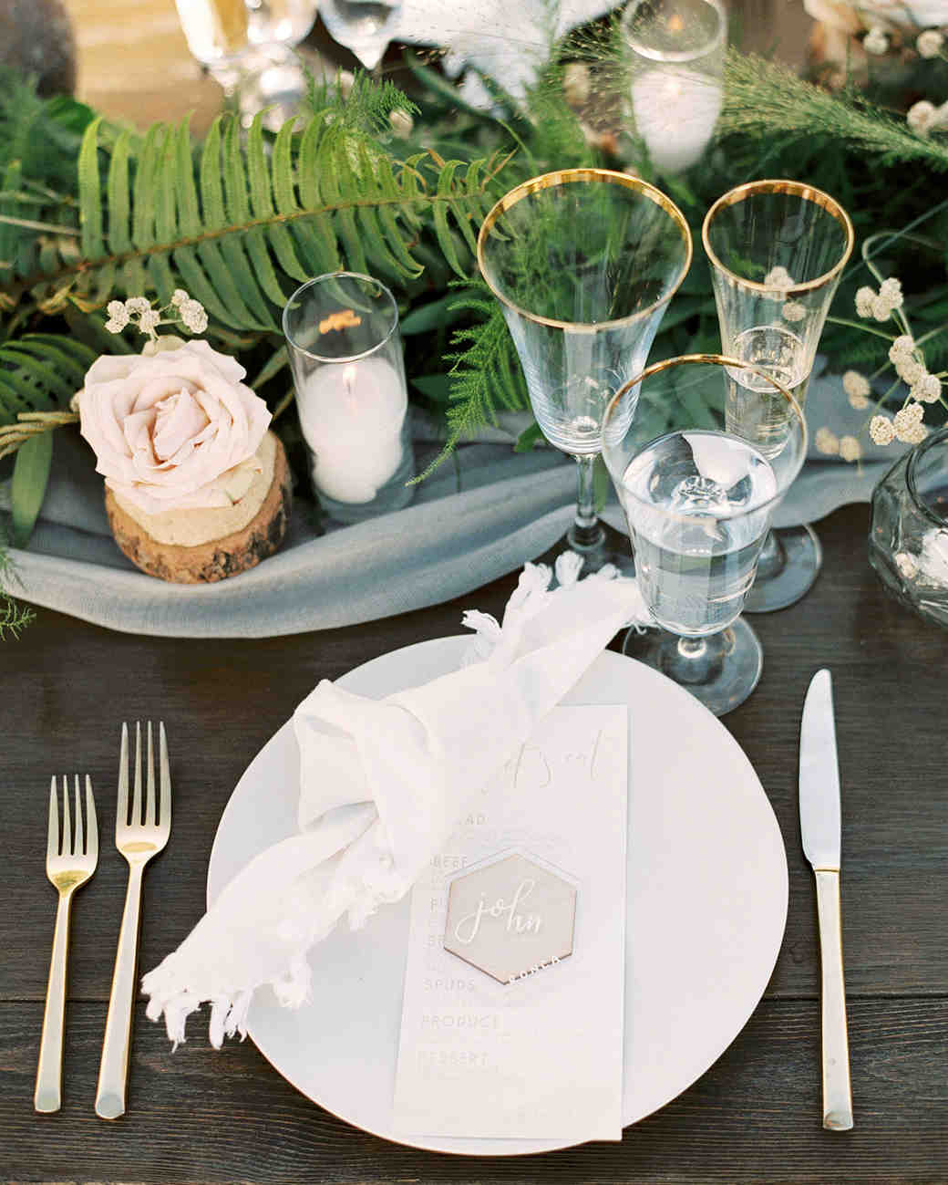 jena donny wedding placesetting tablescape centerpieces
