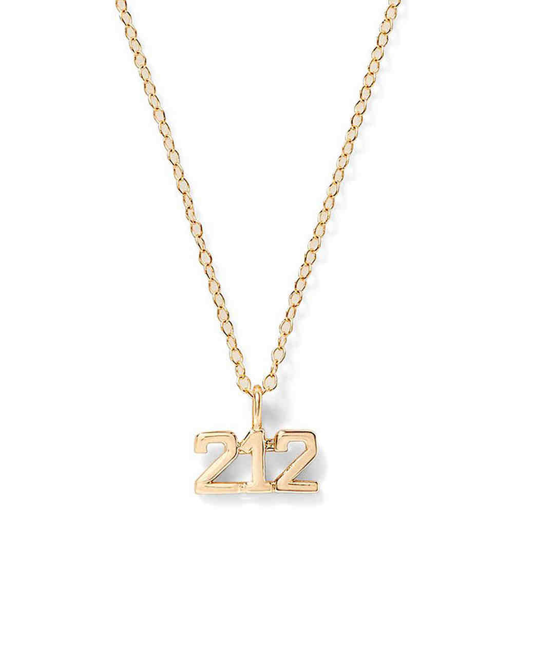 Alison Lou Area Code Necklace