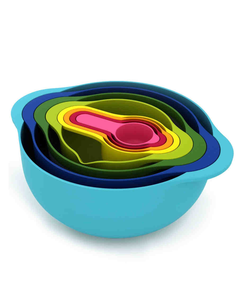 Nested food prep bowls