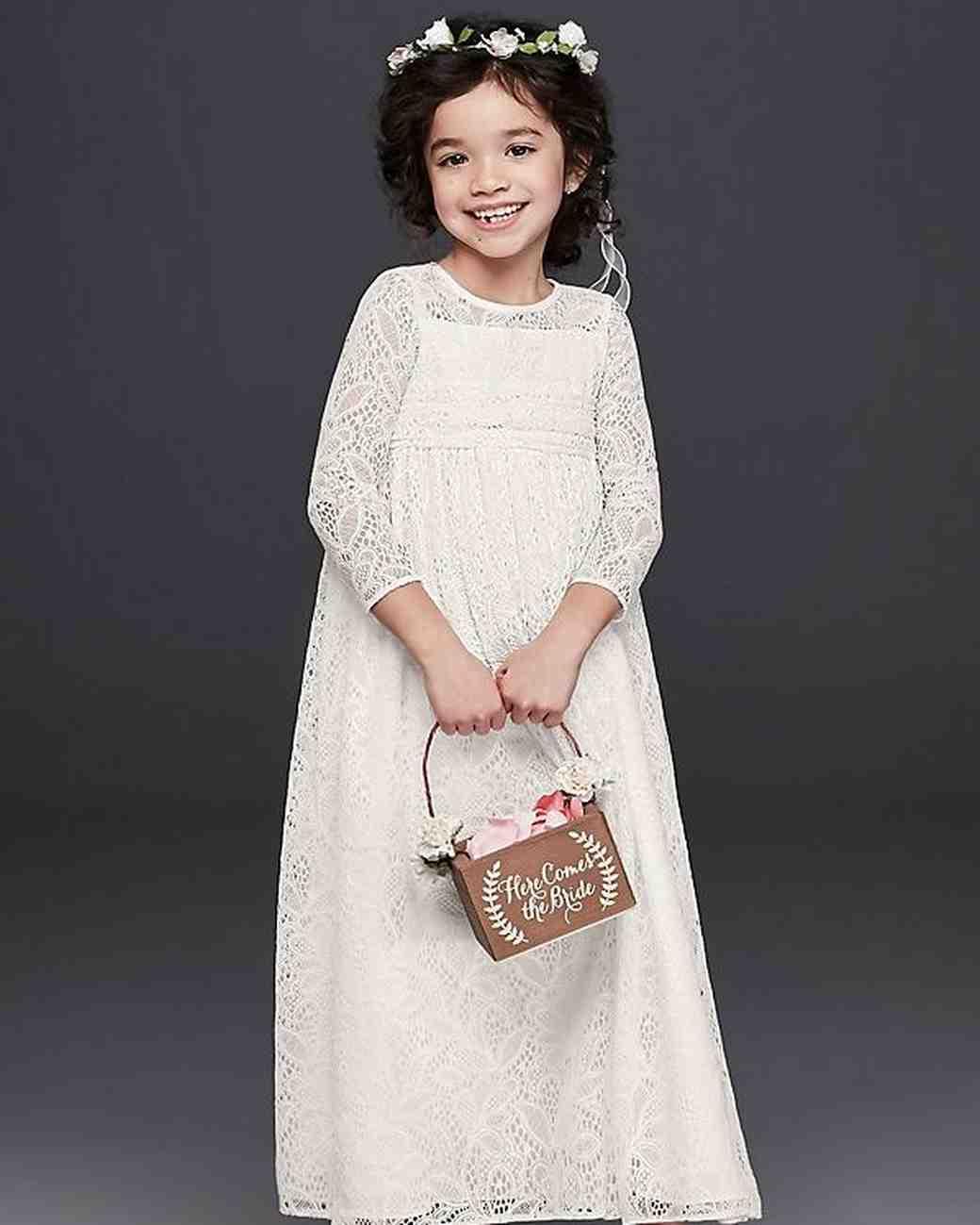 cd47869c1d lace crochet flower girl dress from davids bridal