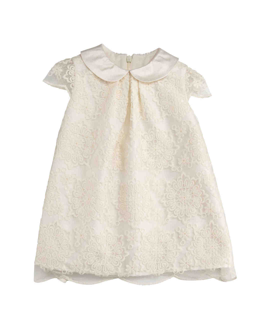 Luli and Me Scalloped Lace A-Line Dress