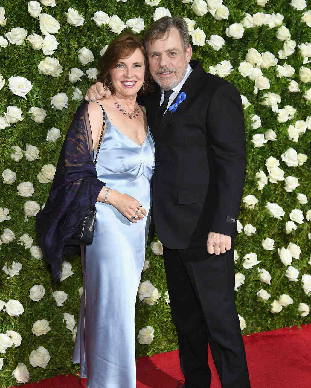 Marilou York and Mark Hamill at 2017 Tony Awards