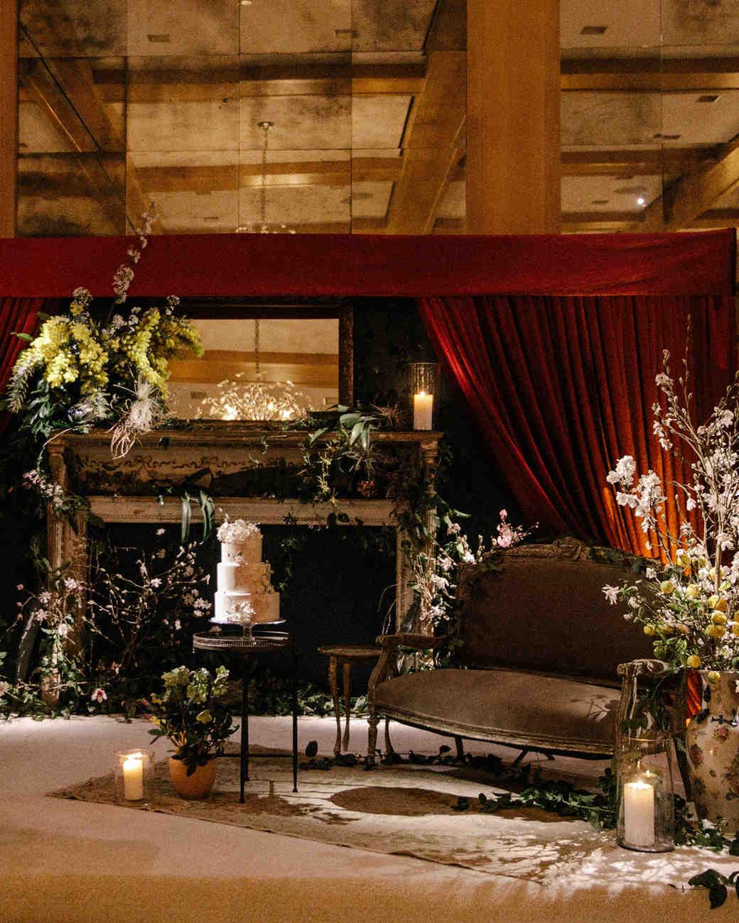 mia patrick wedding three tier cake display