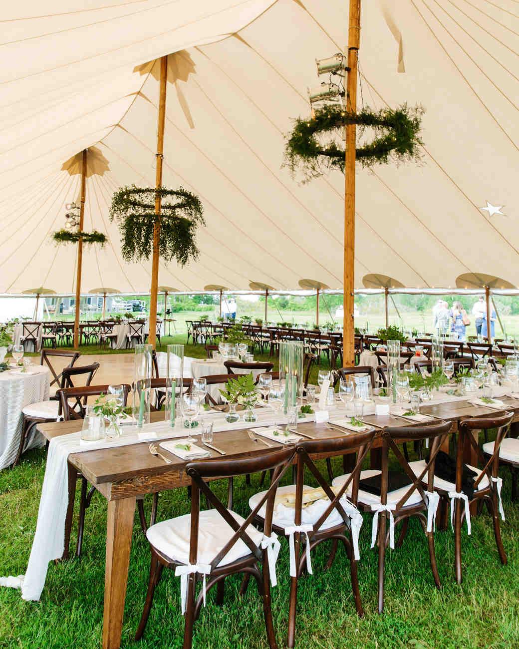 molly ed wedding reception tent